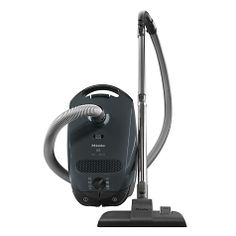 Miele Capri canister vacuum is perfect for bare floors up to medium pile floors. Features a lightweight canister with AirDriven turbo brush, smooth floor brush and Super AirClean Filter.