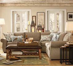 Love the  Sectional Couch w/ a touch of the Tuscan look that I am looking for in the new house ;)