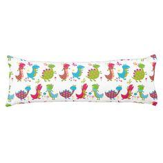 Cute,kawai,dinosaurs,kids,fun,happy,colourful,chic Body Pillow