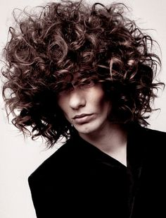 Men With Curly Hair Men's long curly hair