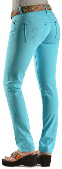 Wrangler Booty Up Turquoise Skinny Jeans available at #Sheplers