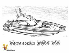 rugged boat coloring formula 350 fx power boat httpwww