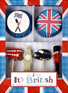 Great for a 2012 Olympic theme party!! It's British cupcake set fro 24 on Etsy $11.95!