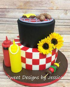 I do BBQ couples shower cake Baby Q Shower, Baby Shower Cakes, Bridal Shower, Bbq Cake, Birthday Bbq, 15th Birthday, Birthday Cake, I Do Bbq, Bbq Party