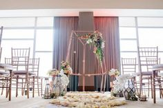 Modern Geometric Styled Shoot from Garnish Event Design and Leeann Marie, Wedding Photographers featured on Burgh Brides   Venue: Fairmont Pittsburgh