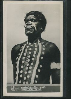 Australian Aboriginal - Full war paint. Aboriginal Dot Art, Aboriginal History, Aboriginal Painting, Aboriginal Culture, Aboriginal People, We Are The World, People Of The World, Dot Art Painting, Art Paintings