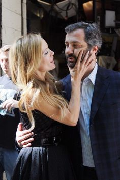 Judd Apatow and Leslie Mann <3 If only I could get a double date set up...