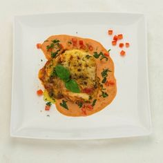 Lasagne met saus van Lacroix