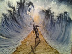 God makes a way for us... Painted live Fri. nite worship service at Garden of Grace,Orlando,Fl.