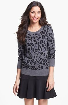 Halogen Crewneck Sweater - Grey / Black