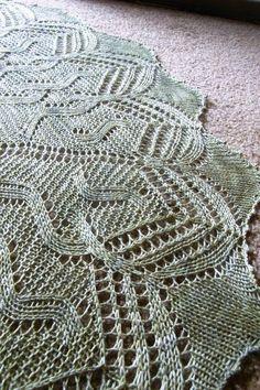 Irish Moss Shawl by verybusymonkey | Knitting Pattern