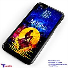 the little mermaid galaxy - Personalized iPhone 7 Case, iPhone 6/6S Plus, 5 5S SE, 7S Plus, Samsung Galaxy S5 S6 S7 S8 Case, and Other