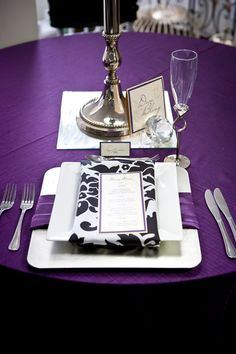 Purple and Damask. #yyceventrentals www.greateventsrentals.com