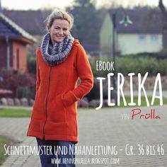 Sewing Tutorials Fashion - EBook jERIKA - Short Coat, Sweat Jacket, Jacket - a design piece from Pruella at DaWanda