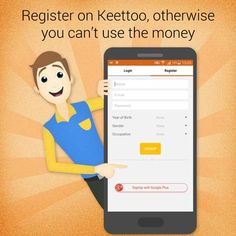 #Keettoo #direct #Money by #Watching #Ads #redeem #Money #Mobikwik Register on Keettoo, otherwise you can't use the Money.