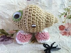 The Hook Brings You Back: Marcel the Shell (with shoes on): Crochet Version!