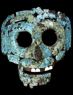 Mosaic mask of Quetzalcoatl, 15th-16th century AD, From Mexico.