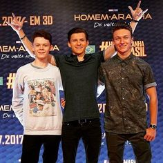 Tom Holland, Harry Holland and Harrison Osterfield
