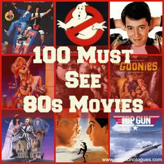 100 Must See 80s Movies - Mrs. Monologues I've seen a bunch of these