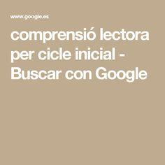 comprensió lectora per cicle inicial - Buscar con Google Bechamel, Quinoa, Pasta, Google, Initials, Cooking Recipes, Meal, Noodles, Bechamel Sauce