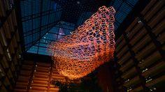 Nebula by Kinetic Artist Reuben Margolin Free Math Help, Steel Trusses, Kinetic Art, Crafts Beautiful, Water Droplets, Hanging Art, Ocean Waves, Installation Art, Sculpture