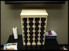 Petite but strong, this small wine rack is the best choice for converting tiny areas into big wine storage. The solid wood top excels as a table Small Wine Racks, Woodworking Plans, Woodworking Projects, Wine Rack Storage, Wine Case, Small Plants, Craft Stick Crafts, Wine Cellar, A Table
