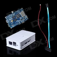 Fine Source DIY-w Banana Pi Board + Sata Line Cable + ABS Case Box for Banana Pi - White + Blue. . Tags: #Electrical #Tools #Arduino #SCM #Supplies #Kits