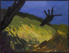 Patrice Giorda, Les Deux arbres, 2006. Acrylic on canvas, 89 x 116 cm.