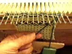 Knit weave On Manual Knitting Machines - http://www.knittingstory.eu/knit-weave-on-manual-knitting-machines/