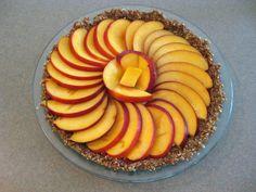 Ginger-peach tart — paleo, primal, gluten-free, nut-free, dairy-free, raw and vegan