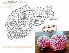 Witam:) To co wczoraj zobaczyłam na swojej tablicy na FB SZ Crochet Christmas Decorations, Crochet Decoration, Crochet Ornaments, Christmas Crochet Patterns, Crochet Snowflakes, Beaded Ornaments, Handmade Ornaments, Xmas Ornaments, Christmas Crafts
