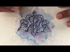 Islamic art - watercolour painting - tezhip - islimi - speed painting - YouTube