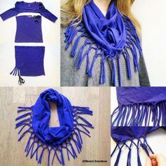 Leuke manier om een sjaal te maken!