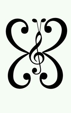 Musical Butterfly Vinyl Car Decal by DessicaDupin Silhouette Design, Silhouette Cameo, Music Drawings, Music Tattoos, Vinyl Projects, Car Decals, Music Notes, Rock Art, Fake Tattoos