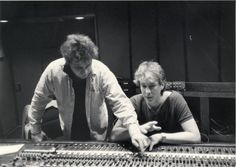 """In 1980, Keith Sykes released """"I'm not Strange I'm Just Like You,"""" which peaked at number 147 on The Billboard 200. The album was one of the first to be made in the newly constructed Studio C at Ardent. Here he is with Engineer John Hampton in 1980."""
