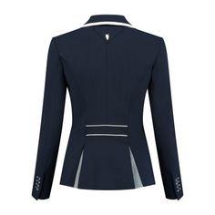 Navy, white & grey Show Jackets, Custom Boots, Riding Jacket, Equestrian Style, Second Skin, Navy And White, Snug, Dark Blue, Blazer