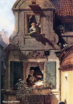 """The Intercepted Love Letter"" by Carl Spitzweg Oil on canvas. by picsnotminepaintingsnoteven Embossed Wallpaper, Glitter Wallpaper, Oil On Canvas, Canvas Art, Canvas Prints, Carl Spitzweg, Buy Wallpaper Online, Museum, Art Memes"