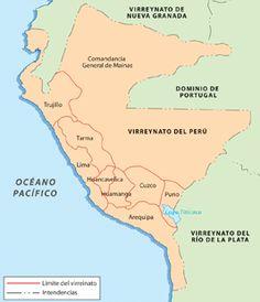 CONOCIENDO LA HISTORIA PERUANA Y MUNDIAL: MAPA DEL VIRREINATO PERUANO HACIA FINES DEL SIGLO XVIII DESPUÉS DE LAS REFORMAS BORBÓNICAS POLÍTIC...
