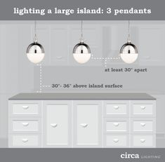 Height of a pendant light over kitchen island ive always wondered how to hang pendant lights over an island aloadofball Gallery
