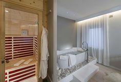 Camera Oslo Wellness, hotel di charme Villa Klofer Wonderland Resort a Campitello di Fassa. #trentinocharme