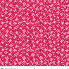 Riley Blake Santa Express Snowflakes Red