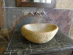 vessel sink Earthy Bathroom, Vessel Sink, Home Decor, Homemade Home Decor, Sink, Decoration Home, Interior Decorating