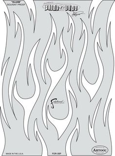 Iwata-Medea Fraser's Flame-O-Rama Series Airbrush Paint Stencil Template Slash for sale online Leather Tooling Patterns, Leather Pattern, Air Brush Painting, Spray Painting, Flame Art, Stencil Art, Stenciling, Skull Stencil, Flame Design