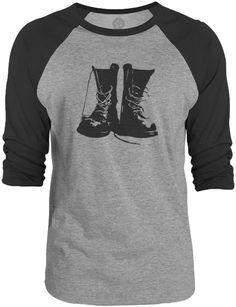 Big Texas My Docs (Black) 3/4-Sleeve Raglan Baseball T-Shirt
