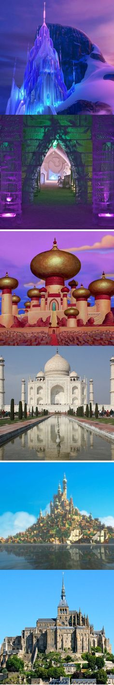 The architectural wonders IRL that inspired these Disney castles, palaces, and cities.