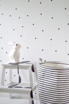 Pois Rayures Nuages Noir Et Blanc Chiara Stella Home Eshop Deco Enfant 11