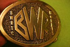 1977-1989 80's True Vintage Brass Cowboy Western Belt Buckle American Buckle Co.