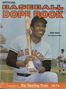 Bobby Bonds Giants Baseball Card 1974 Sporting News