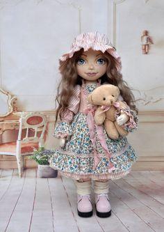 Textile doll, decorative doll,collectible dolls,  rag doll, art doll, oaak doll