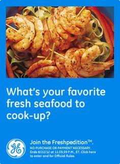 What's your favorite fresh seafood to cook-up? I love to cook salmon or shrimp. Yum!  #GEfreshFL